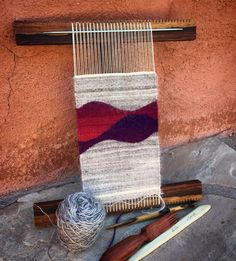 I finally finished this handspun piece last night while watching the newest Star Trek movie. I learned a lot about how the handspun acts in the weaving and am warping up for another version. This fleece is so gorgeous!! .. .. #tapestryweaving #artistinresidence #weaving #weavingloom #hokettloom #handspun #weavingtapestry #handspunweaving