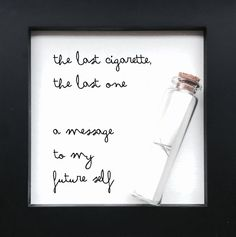 Last cigarette Time capsule by OnMoments on Etsy