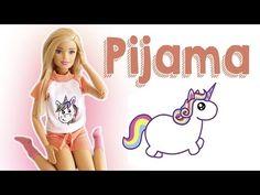 Pijama de Unicórnio   Como Fazer Roupinhas para Bonecas Barbie - YouTube
