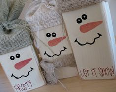 DIY Winter craft ideas for those cold and snowy days stuck inside. Great for kids of all ages. wood crafts for kids You could discover more details at the link of the picture. Christmas Wood, Christmas Projects, Winter Christmas, Christmas Holidays, Christmas Decorations, Christmas Ornaments, Kids Holidays, Snowman Crafts, Crafts To Make