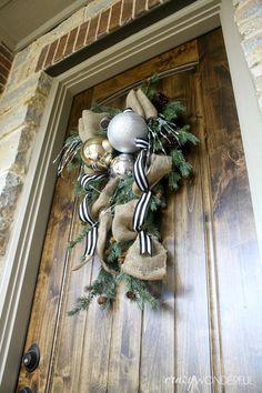 Shelley: DIY Wreath / U201cSwagu201d | Playdates + Pearls