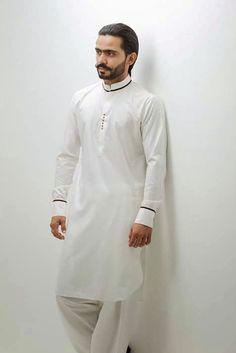 Mens Designer Shirts, Designer Clothes For Men, Men Clothes, White Kurta Men, Mens Shalwar Kameez, Kurta Pajama Men, Mens Fashion Wear, Man Fashion, Kids Fashion