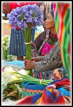Mercado de flores, Chichicastenango