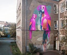 Hyper-Real Murals by Duo Telmo Pieper & Miel Krutzmann. |CutPaste Studio| Art, Artist, Artwork, Entertainment, Beautiful, Creativity, Illustration, Painting, Street art, Murals, Graffit art.
