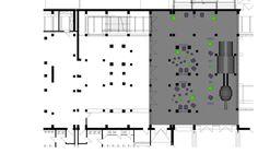 Der Foyerbereich ist rechts zu sehen und hier mit einer Loungemöblierung ausgestattet.