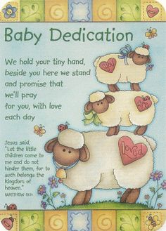 Baby Dedication Pocket Card