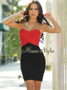 06aad6a0bc8 HMS EXCLUSIVE  Black Red CrissCross Bust LUXE Bandage Dress