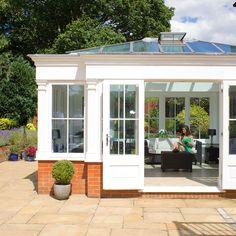 aluminium orangery house extension