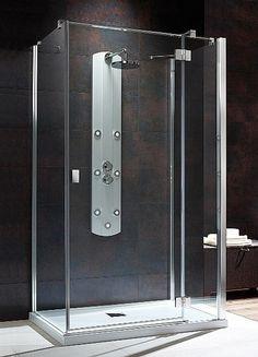 Essenza KDJ S Radaway kwadratowa kabina prysznicowa 100x80x195 prawa przejrzyste - 32942-01-01NR http://www.hansloren.pl/Kabiny-RADAWAY/245