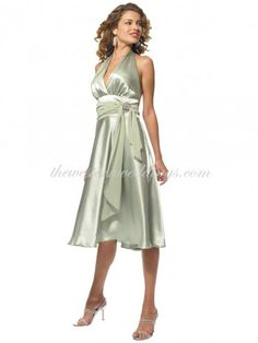Cheap Western Wedding Dresses Online Cheap A-Line Halter Knee Length Elastic Satin Bridesmaid / Wedding Party / Cocktail Dress [002-0003-0000068] - $89.82 : Country Wedding Dresses,  Change heels to boots