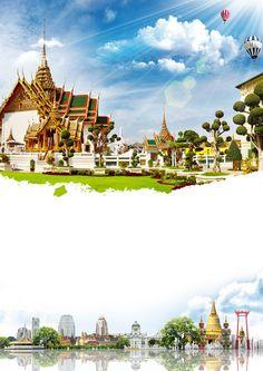 สถาปัตยกรรม อาคาร ท้องฟ้า ศาสนา พื้นหลัง Background Search, Scenery Background, Poster Background Design, Background Pictures, Background Templates, Teacher Wallpaper, Thai Art, Graphic Design Tips, Advertising Poster