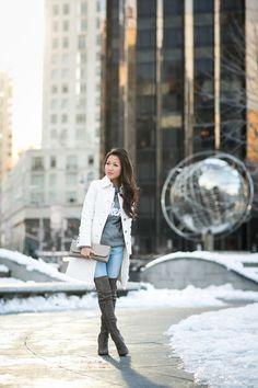 Weekend :: Winter layers & Grey boots - Wendys Lookbook