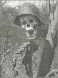 War Is Hell. Nazi SS soldier on the Eastern (Russian) Front.