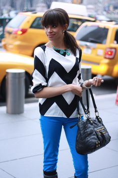 chevrons and colored pants