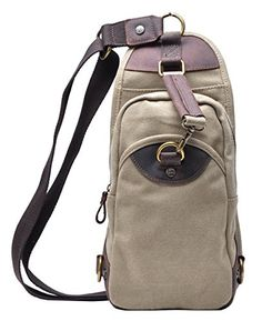 Gootium 21105 Canvas Sling Bag Chest Pack Unbalance Shoul...