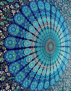 Hippie Mandala Tapestry wall hanging boho bohemian by rangRaizzi