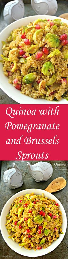 Quinoa with Pomegranate and Brussels Sprouts
