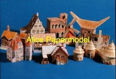 Online Shop [Alice papermodel] 1:87 ho scale 10 mini house architecture diorama Sandbox structure building models|Aliexpress Mobile