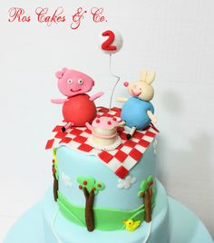 Peppa Pig Cake by Ros Cakes & Co.