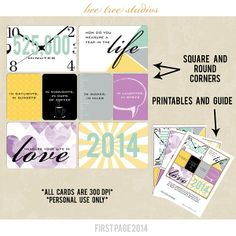 FREE First Page 2014 Free Download - Square and Round Corners Cards   Bee Tree Studios