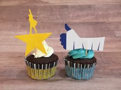 Musical Cupcakes, Hamilton Cupcakes, Dear Evan Hansen Cupcakes Sarah's Custom Cakes facebook.com/sarahmccupcake