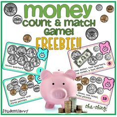 Money Counting & Matching Freebie Game!This product may be challenging for students who are just beginning to learn how to count money. To master the basics, click here!This game will help students learn to count money quickly while having fun! Directions: You can play this game several different ways with your students.