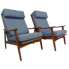 Pair of Mid-Century American Arm Chairs