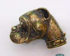Novelty Boxer Dog Head Shape Figural Heavy Brass Match Safe / Vesta Case | eBay