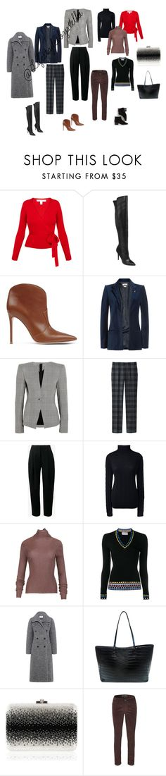 """""""Winter Capsule"""" by lifestylesbystella on Polyvore featuring Diane Von Furstenberg, Style Charles by Charles David, Gianvito Rossi, Zadig & Voltaire, Gareth Pugh, Uniqlo, Acne Studios, Lands' End, TIBI and Peter Pilotto"""