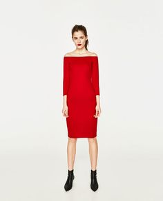 ZARA - TRF - OFF-THE SHOULDER DRESS