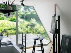 Natureful artist's workspace.