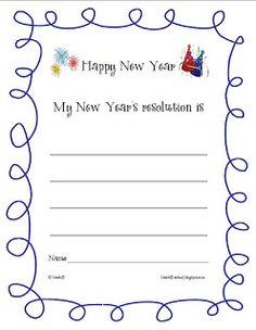 Fern's Freebie Friday ~ Goal setting: New Year's Resolution