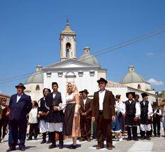 Wedding parade in Baunei, Ogliastra, Sardinia