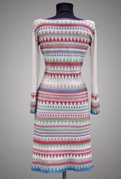 Crochet dress Tessa. Multicolor day or cocktail by TsarevaCrochet