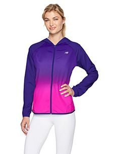 New Balance Womens Hombre Windcheater Jacket, Basin Multicolor, X-Small