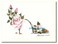 http://www.brownleeartstudio.com/apps/webstore/products/show/2328531 ICY PINK ROSE SHOE -  Print Enhanced with paint and signed.