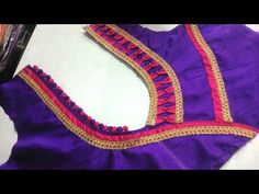 easy blouse back neck designe cutting and stitching at home 2017 - YouTube