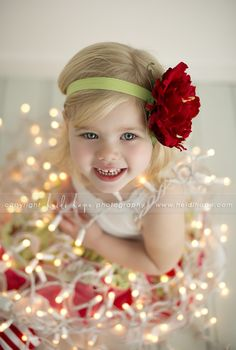 All Tied Up This Holiday Season - cute Christmas photo-op inspiration; especially for cards