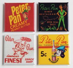 Peter Pan Food Fridge Magnet Set by BlueCrabMagnets on Etsy, $7.50