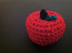 This is the first of many food patterns to go along with The Very Hungry Caterpillar set. Of course, this little apple would also work well as a teacher's gift, a pin-cushion, a piece of play… Crochet Apple, Crochet Food, Crochet For Kids, Food Patterns, Heart Patterns, Hungry Caterpillar Food, Pin Cushions, Teacher Gifts, Crochet Patterns