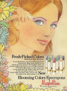 i think it was the late '70s that really pushed the idea of using rainbow/pastel eyeshadows...
