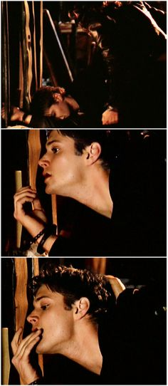 [gifset] That's not what I would do if I had him in cuffs..... Jensen as Alec McDowell in Dark Angel (S2) #Jensen
