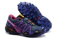 Womens Discount Salomon Running shoes Speedcross 3 Navy Purple