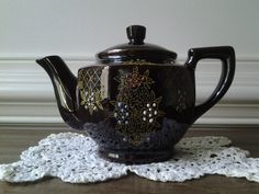 Vintage Hand Painted Teapot Candle Made in by BlueHenCandleCompany, $20.00