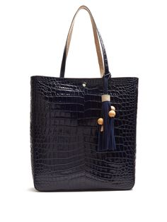Eloise crocodile-effect leather tote | Elizabeth And James | MATCHESFASHION.COM US