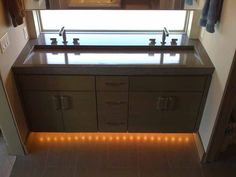 Concrete Countertop With Slotted Drain Sink