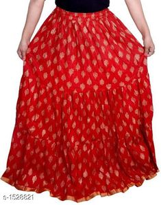Ethnic Bottomwear - Skirts Elegant Comfy Cotton Skirt Fabric: Cotton  Size: Up To 26 in To 40 in (Free Size) Length: Up To 39 in Type: Stitched Description: It Has 1 Piece Of Women's Skirt Work: Printed Sizes Available: Free Size, 26, 28, 30, 32, 34, 36, 38, 40 *Proof of Safe Delivery! Click to know on Safety Standards of Delivery Partners- https://ltl.sh/y_nZrAV3  Catalog Rating: ★4.1 (1441)  Catalog Name: Myra Elegant Comfy Cotton Skirts CatalogID_198753 C74-SC1013 Code: 633-1528821-