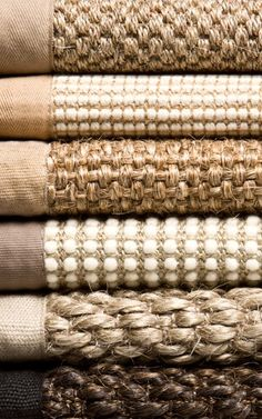 Throw rugs (Jute)...  Light on dark wood - cool texture - looks durable
