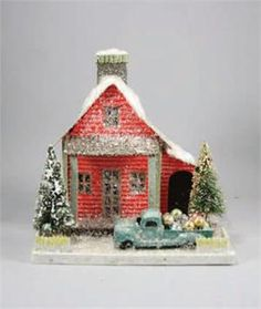 Special Delivery House Putz House with Truck *inspiration only