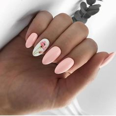 Image about pink in Nails / Nail Polish / Vernis / Manicure by Mouna DramaQueen Spring Nail Art, Nail Designs Spring, Cute Nail Designs, Cute Nails For Spring, Acrylic Spring Nails, Acrylic Nails Almond Short, Pink Summer Nails, Gel Nail Art Designs, Spring Design